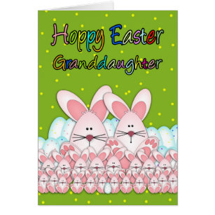 Easter for granddaughter gifts gift ideas zazzle uk granddaughter easter card with easter bunnies negle Gallery