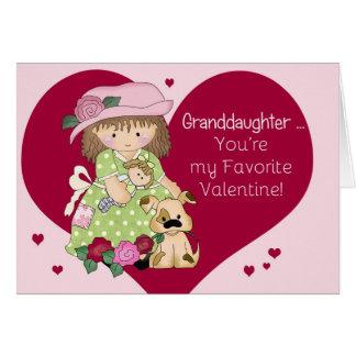 Granddaughter Favorite Valentine Greeting Card