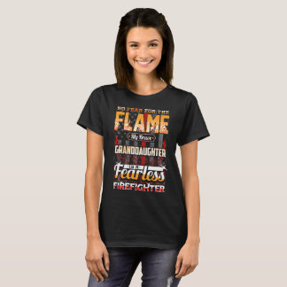 Granddaughter Firefighter American Flag T-Shirt