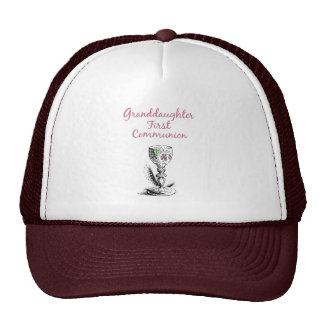 Granddaughter First Communion Pink, Chalice Cap