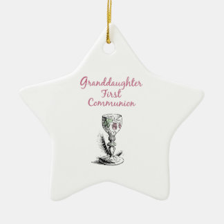Granddaughter First Communion Pink, Chalice Christmas Ornament