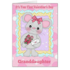Granddaughter First Valentine's Day With Little Mo Card