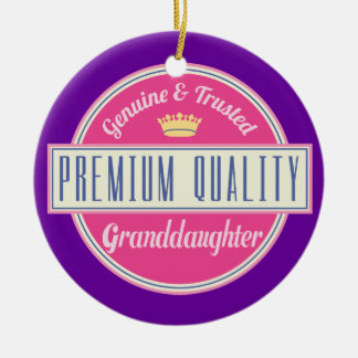 Granddaughter (Funny) Gift Christmas Ornament