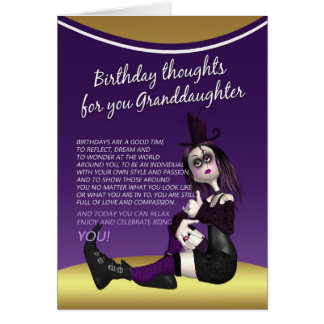 granddaughter gothic birthday card - birthday thou