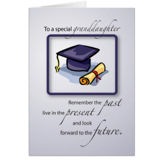 Granddaughter Graduation Congratulations Remember Card