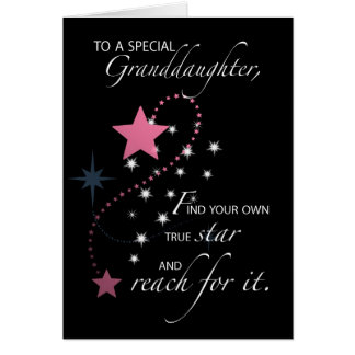 Granddaughter, Graduation Star Congratulations Card