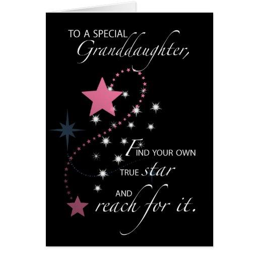 Granddaughter, Graduation Star Congratulations Cards