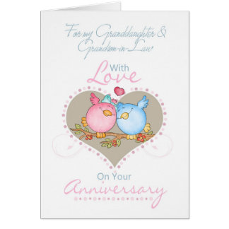 Granddaughter & Grandson-in-Law Anniversary Card W