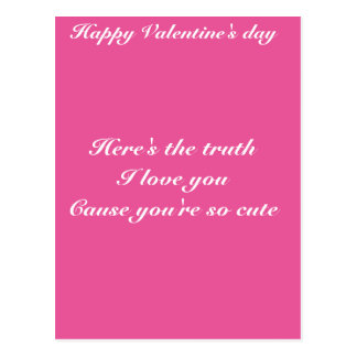 Granddaughter grandson valentine's day postcard