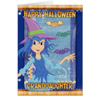 granddaughter halloween greeting card