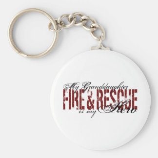 Granddaughter Hero - Fire & Rescue Key Ring