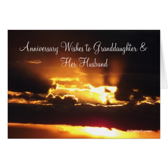 Granddaughter & Husband Anniversary Card