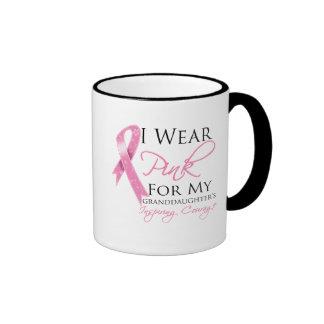 Granddaughter Inspiring Courage Breast Cancer Mug