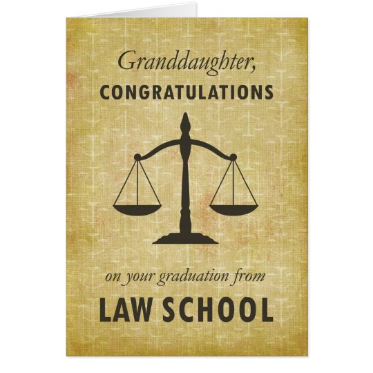 Granddaughter, Law School Graduation Congratulatio Card