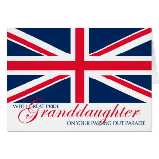 Granddaughter Marching in Passing Out Parade Greeting Card