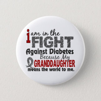 Granddaughter Means World To Me Diabetes 6 Cm Round Badge