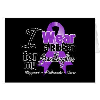 Granddaughter - Pancreatic Cancer Ribbon Greeting Card