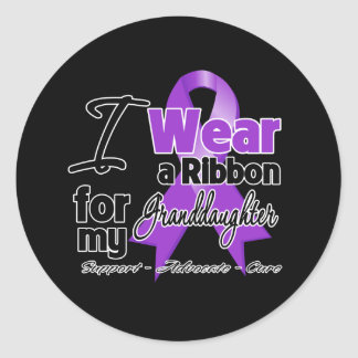 Granddaughter - Pancreatic Cancer Ribbon Round Sticker