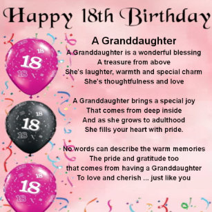 Granddaughters 18th Birthday Gifts Gift Ideas