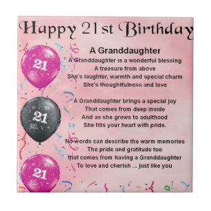 Granddaughters 21st Birthday Gifts Gift Ideas
