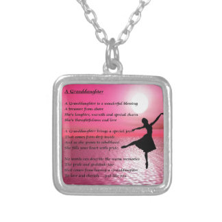 Granddaughter Poem - ballerina Necklaces