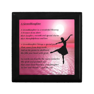 Granddaughter Poem - ballerina Small Square Gift Box