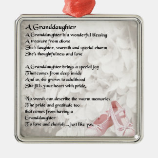Granddaughter Poem - Ballet Shoes Design Christmas Ornament