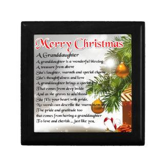 Granddaughter Poem - Christmas Design Gift Box