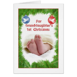 Granddaughter s 1st Christmas Cards