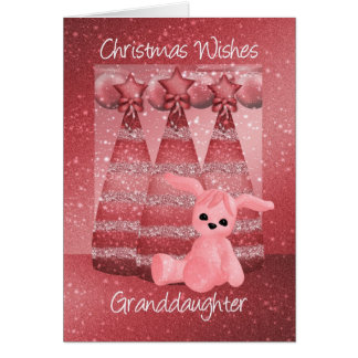 Granddaughter Sparkle Christmas Greeting Card Dusk