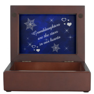 Granddaughter Star Heart Keepsake Box
