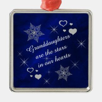 Granddaughter Star Snowflake Keepsake Christmas Ornament