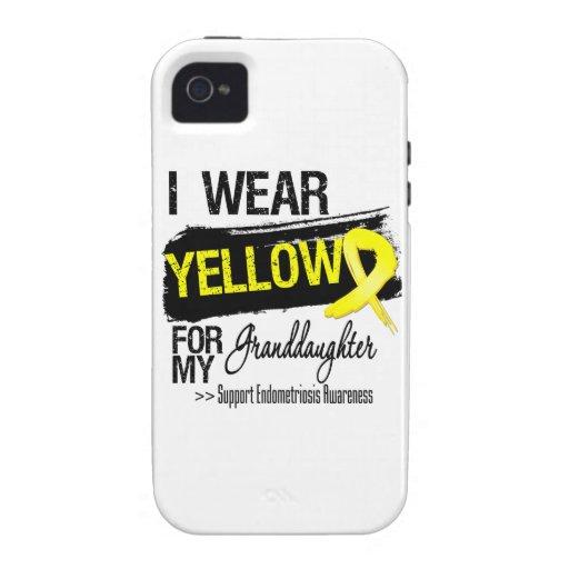 Granddaughter Yellow Ribbon Endometriosis Case-Mate iPhone 4 Covers