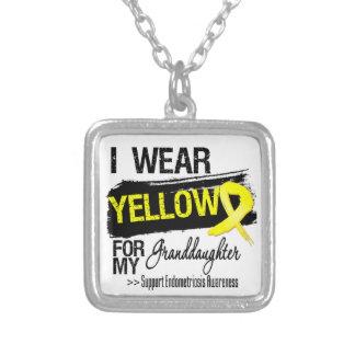 Granddaughter Yellow Ribbon Endometriosis Custom Necklace
