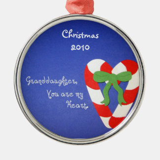 Granddaughter, You are my Heart. Christmas Ornament