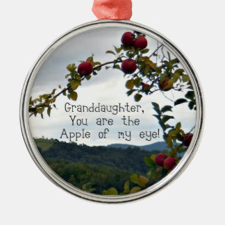 Granddaughter, You are the Apple of my eye! Christmas Ornament