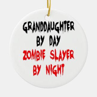 Granddaughter Zombie Joke Christmas Ornament