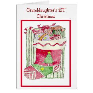 Granddaughter's 1ST Christmas - Greeting Card