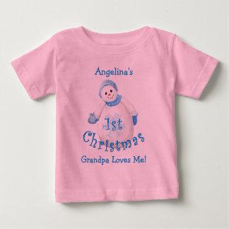 Granddaughter's 1st Christmas Snowman from Grandpa Tee Shirt