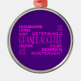 Granddaughters Birthday Party Christmas Qualities Christmas Ornament