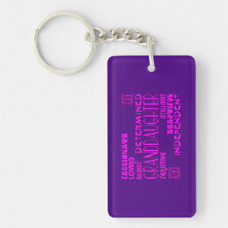 Granddaughters Birthday Party Christmas Qualities Single-Sided Rectangular Acrylic Key Ring