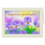Granddaughter's Easter card with Pansies