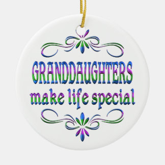 Granddaughters Make Life Special Christmas Ornament