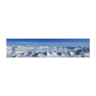 Grande Casse Mountain Panorama Canvas Print
