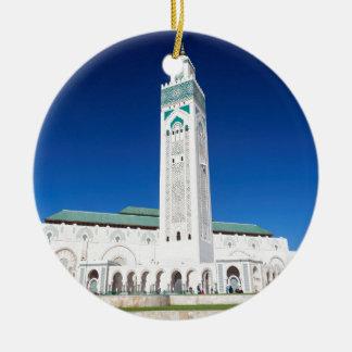 Grande Mosquée Hassan II, Casablanca, Morocco Round Ceramic Decoration