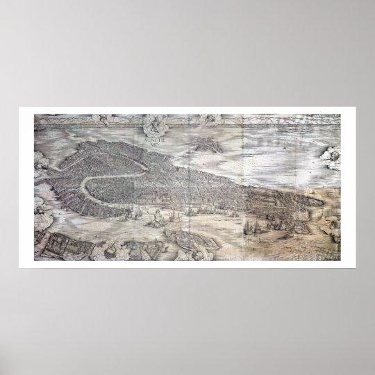 Grande Pianta Prospettica - Venice, c.1500 (engrav Poster
