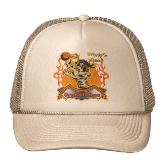 Grandfather Basketball Father's Day Gifts Trucker Hat