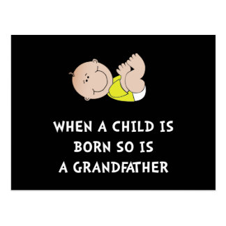 Grandfather Born Postcard