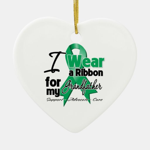 Grandfather - Liver Cancer Ribbon.png Christmas Tree Ornament
