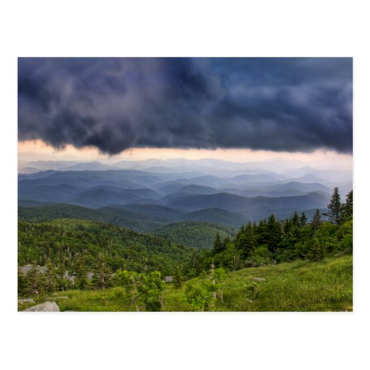Grandfather Mountain Storm Postcard